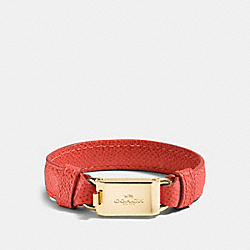 COACH HORSE AND CARRIAGE ID BRACELET - GOLD/WATERMELON - F90590