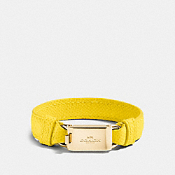 COACH HORSE AND CARRIAGE ID BRACELET - GOLD/YELLOW - F90590