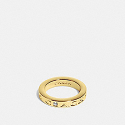 COACH PAVE METAL RING - GOLD - COACH F90600