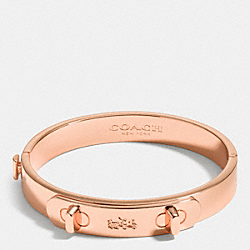 METAL SWAGGER HINGED BANGLE - f90625 - ROSEGOLD