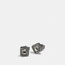 COACH PAVE SQUARE STUD EARRINGS - BLACK - COACH F90665