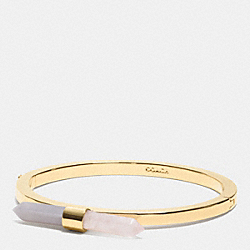TWO TONE AMULET HINGED BANGLE - GOLD/STONE/ BLUSH - COACH F90687