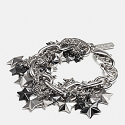 PAVE CLUSTERED METAL STARS BRACELET - SILVER/MULTI - COACH F90689