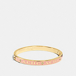COACH PAVE HINGED ENAMEL BANGLE - GOLD/BLUSH - COACH F90698