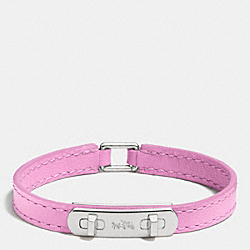 LEATHER SWAGGER BRACELET - SILVER/MARSHMALLOW 2 - COACH F90702