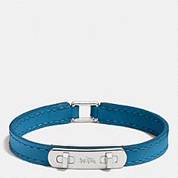 LEATHER SWAGGER BRACELET - SILVER/PEACOCK - COACH F90702