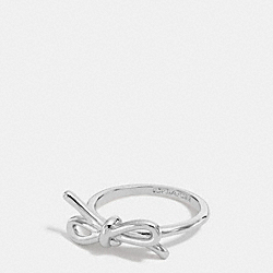 STERLING BOW RING - SILVER/SILVER - COACH F90792