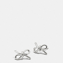 STERLING BOW EARRING - SILVER/SILVER - COACH F90793