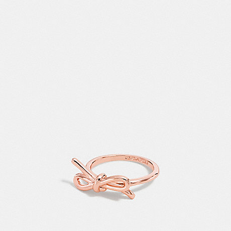 COACH BOW RING - ROSEGOLD - f90870