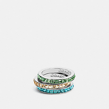 COACH RAINBOW RING SET - SILVER/YELLOW - f90905