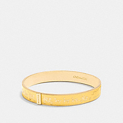 HORSE AND CARRIAGE ENAMEL BANGLE - f90912 - GOLD/CANARY
