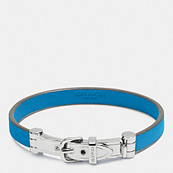 COACH LEATHER BUCKLE BRACELET - SILVER/AZURE - F90914
