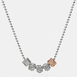 LOVE BLOCK LETTERS NECKLACE - MIXED METAL - COACH F90917