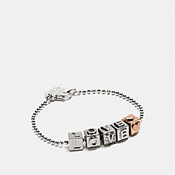 LOVE BLOCK LETTERS BRACELET - MIXED METAL - COACH F90920