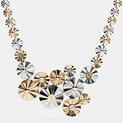 COACH CLUSTERED DAISY RIVET NECKLACE - SILVER/GOLD - F90942