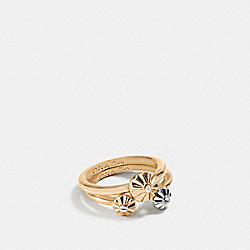 DAISY RIVET RING SET - f90950 - SILVER/GOLD