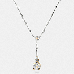 COACH LONG DAISY RIVET DROP NECKLACE - SILVER/GOLD - F90952