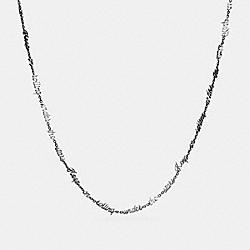 DREAMER SCRIPT NECKLACE - SILVER - COACH F90957