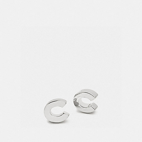COACH f90980 COACH C STUD EARRINGS SILVER