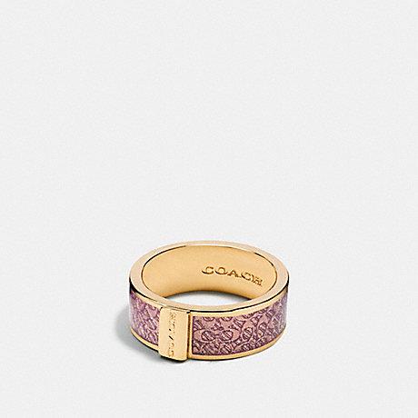 COACH SIGNATURE RING - PETAL/GOLD - f90991