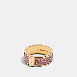 SIGNATURE RING - f90991 - PETAL/GOLD