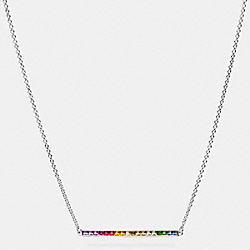 COACH RAINBOW BAR NECKLACE - SILVER/RAINBOW - F90993
