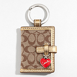 COACH LARGE SIGNATURE C PICTURE FRAME - SILVER/KHAKI/GOLD - F92772