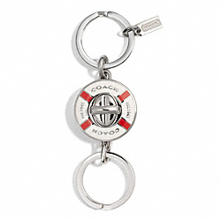 COACH LIFE PRESERVER VALET KEY RING - ONE COLOR - F92902