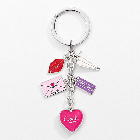 COACH LOVE LETTER MULTI MIX KEY RING -  - f93094