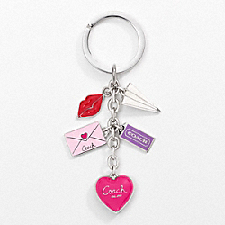 LOVE LETTER MULTI MIX KEY RING COACH F93094