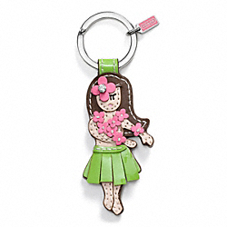 HAWAIIAN GIRL KEY RING COACH F93159