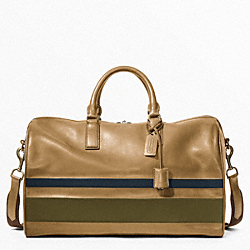 BLEECKER DEBOSSED PAINTED STRIPE BOSTON BAG COACH F93202