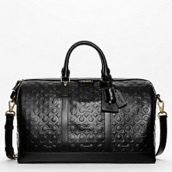 CROSBY LEATHER LOGO DUFFLE COACH F93203