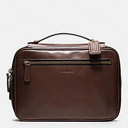 COACH BLEECKER LEATHER TRAVEL KIT - MAHOGANY - F93208