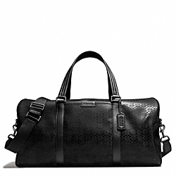 COACH HERITAGE SIGNATURE ROLL DUFFLE - ONE COLOR - F93230