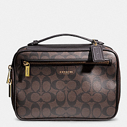 COACH BLEECKER SIGNATURE TRAVEL KIT - MAHOGANY/BROWN - F93241