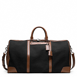 BLEECKER CANVAS CABIN BAG - SILVER/BLACK/FAWN - COACH F93259