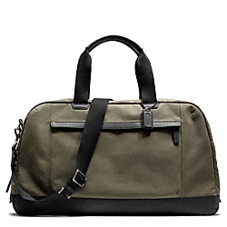 COACH CAMDEN CANVAS SLIM DUFFLE - GUNMETAL/FATIGUE/BLACK - F93265