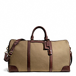 COACH BLEECKER CABIN BAG IN CANVAS - BRASS/DARK KHAKI - F93277