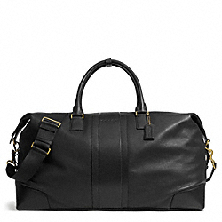 COACH HERITAGE WEB LEATHER CABIN BAG - BRASS/BLACK - F93304