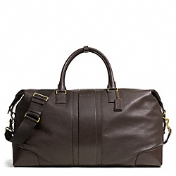 COACH HERITAGE WEB LEATHER CABIN BAG - BRASS/MAHOGANY - F93304