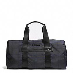 COACH VARICK NYLON PACKABLE GYM BAG - GUNMETAL/GREY MULTI - F93313