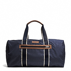 VARICK NYLON PACKABLE GYM BAG - GUNMETAL/NAVY MULTI - COACH F93313