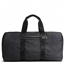 COACH VARICK NYLON PACKABLE DUFFLE - GUNMETAL/GREY MULTI - F93342