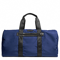 COACH VARICK NYLON PACKABLE DUFFLE - GUNMETAL/MARINE - F93342