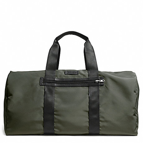 COACH VARICK PACKABLE DUFFLE IN NYLON - GUNMETAL/OLIVE - f93342