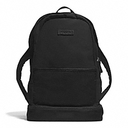 COACH VARICK NYLON PACKABLE DAYPACK - GUNMETAL/BLACK/BLACK - F93372