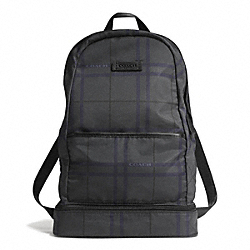 COACH VARICK NYLON PACKABLE DAYPACK - GUNMETAL/GREY MULTI - F93372