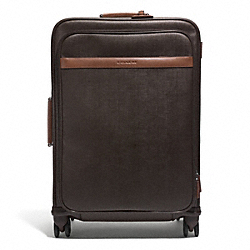 COACH HERITAGE CHECK 26 INCH WHEEL ALONG - SILVER/ESPRESSO - COACH F93391