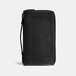 DOUBLE ZIP TRAVEL ORGANIZER - BLACK - COACH F93427